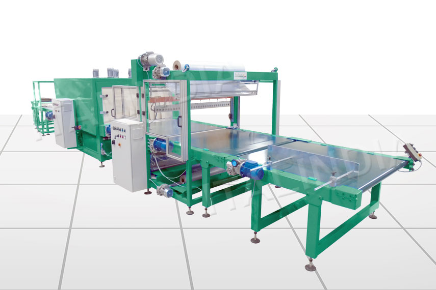 two roll semi automatic shrink wrapper